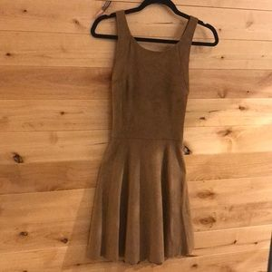 Express Suede dress with cross back